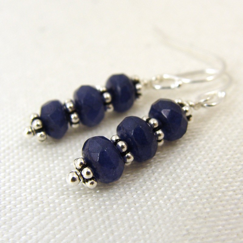 blue chalcedony earrings