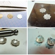 making the flower earrings