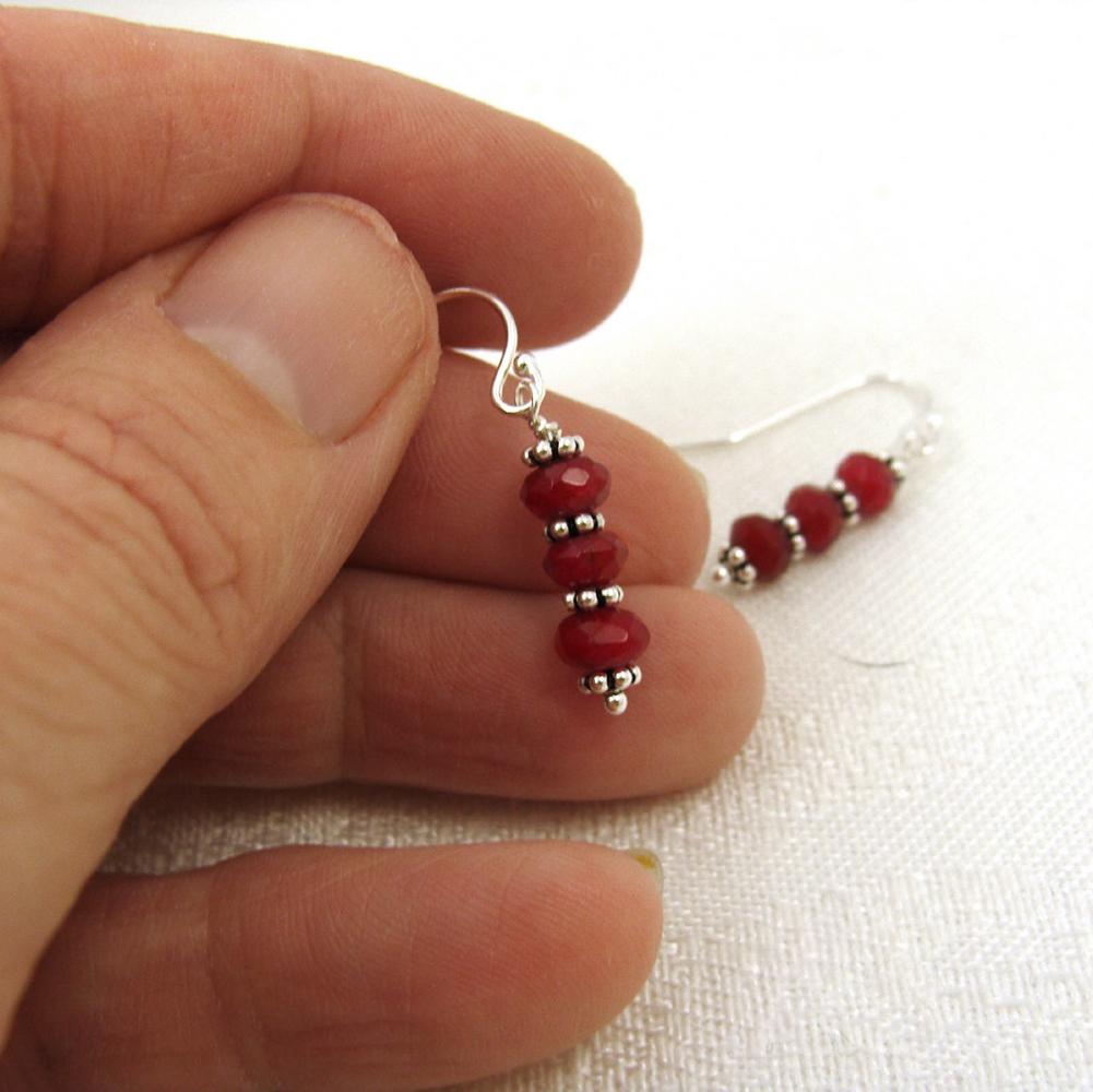 Red chalcedony earrings
