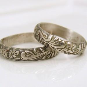 floral fern rings