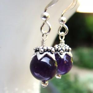 Amethyst berry earrings