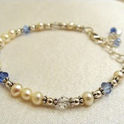 Diane's family birthstone bracelet – an example of 6 crystals