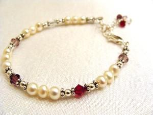 Darin's family birthstone bracelet