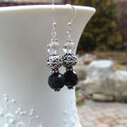 Bali Sterling silver and Swarovski crystal earrings