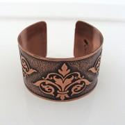 Fleur-de-lis copper cuff
