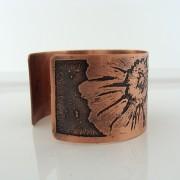 Floral copper cuff