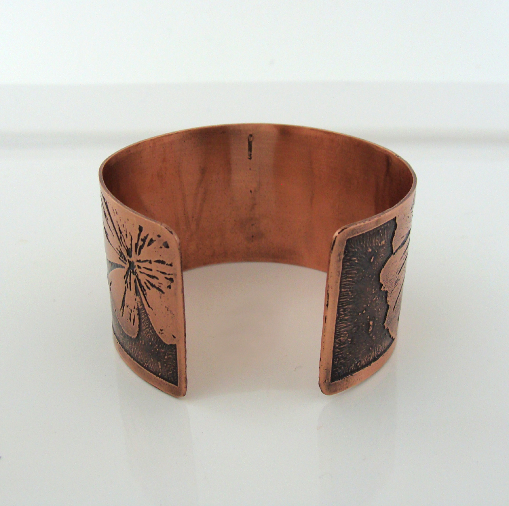 Back of floral cuff