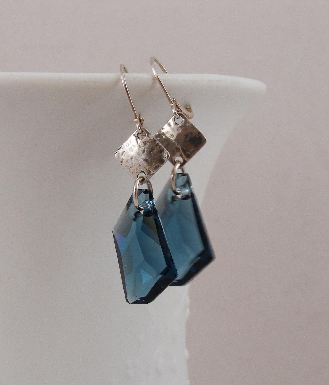 Montana Blue Crystal earrings