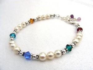 Lorie's family birthstone bracelet