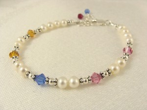 Michelle's family bracelet with two sets of twins!