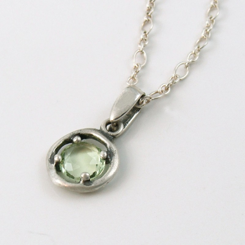 Peridot charm necklace