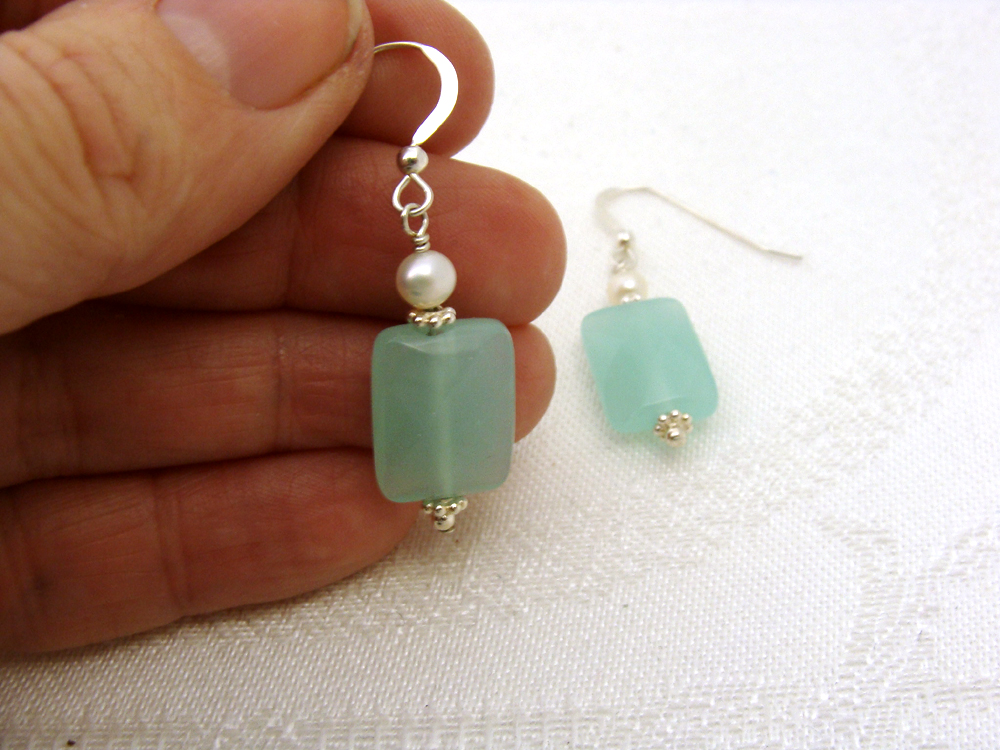 Sea mist earrings