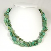Turquoise twisted torsade necklace