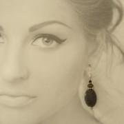 Snakeskin jasper earrings