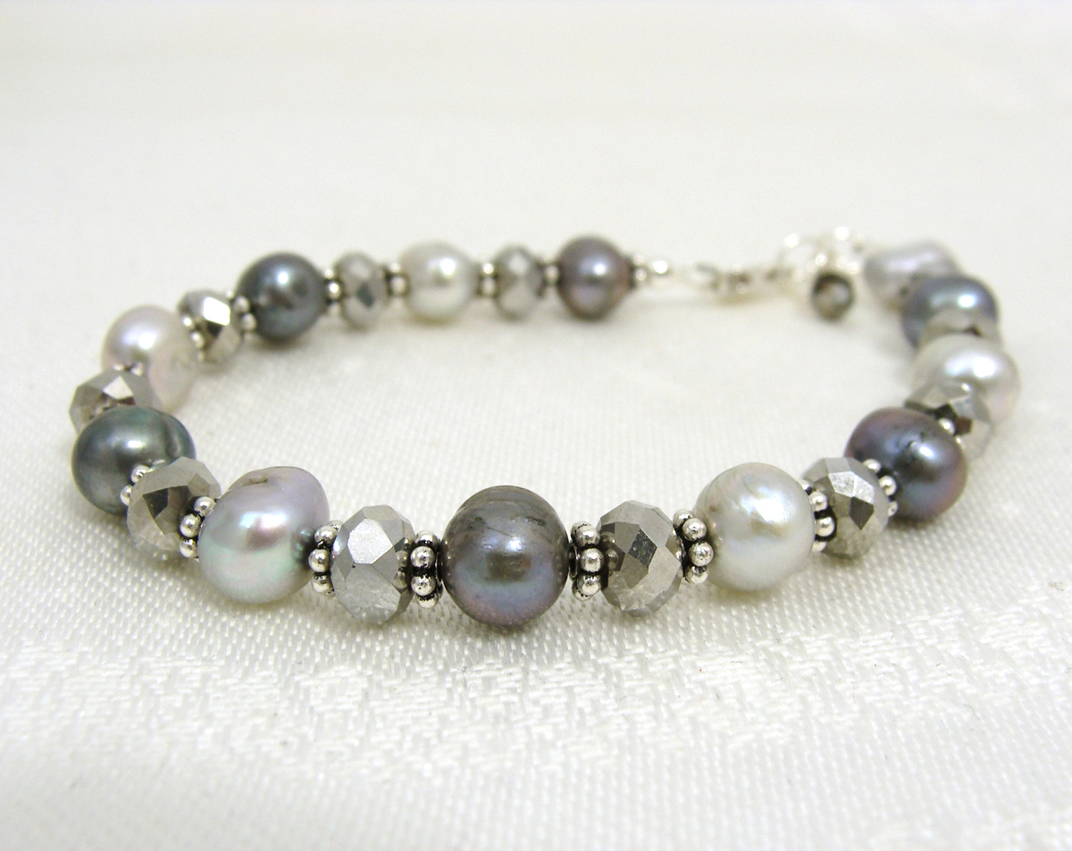 bracelet black silver london star links pearl of sterling en hires effervescence gb